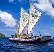Ancient Sailing Catamaran