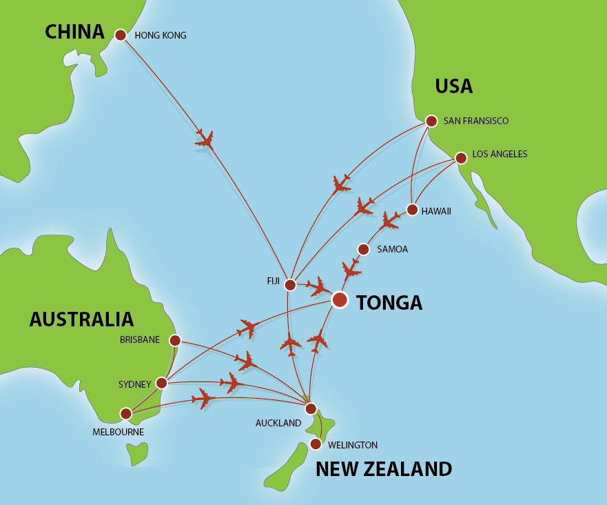 Tonga Flight Routes